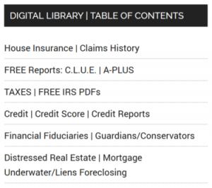 Digital Library Menu
